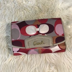 Coach Signature Trifold Wallet